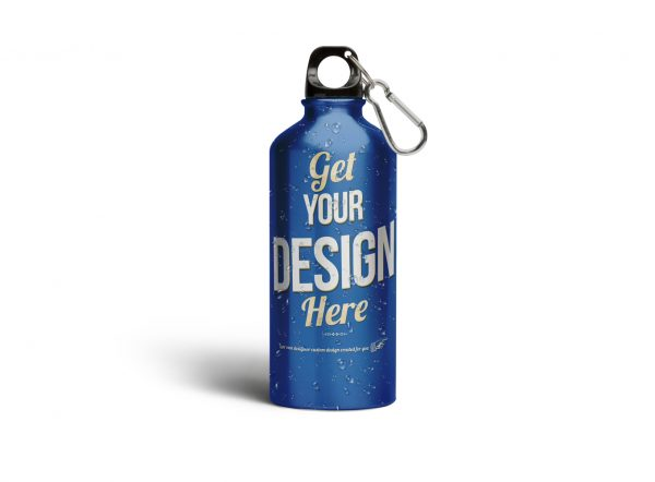 Aluminium Water Bottle Mockup
